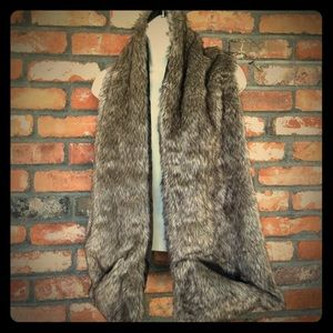 Faux Fur Pocket Scarf